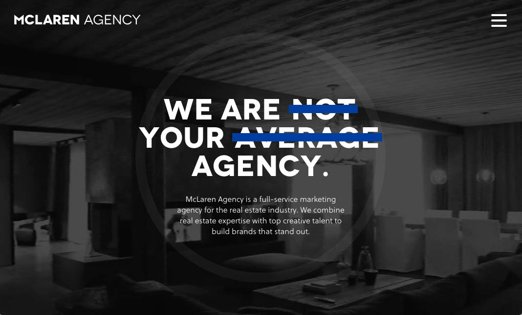 McLaren Agency AG website