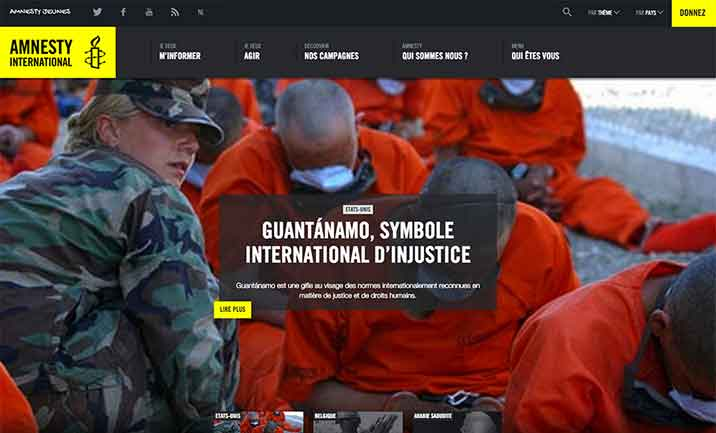 Amnesty International Belgique Francophone website