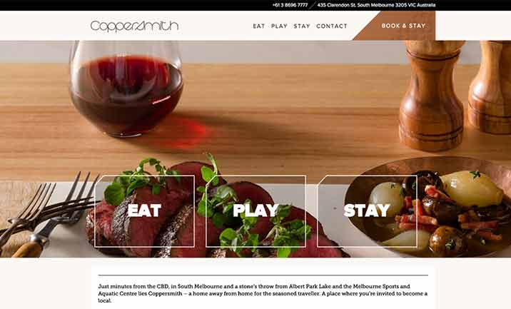 Coppersmith Hotel website