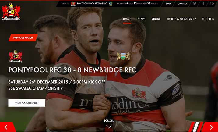 Pontypool Rugby Club website