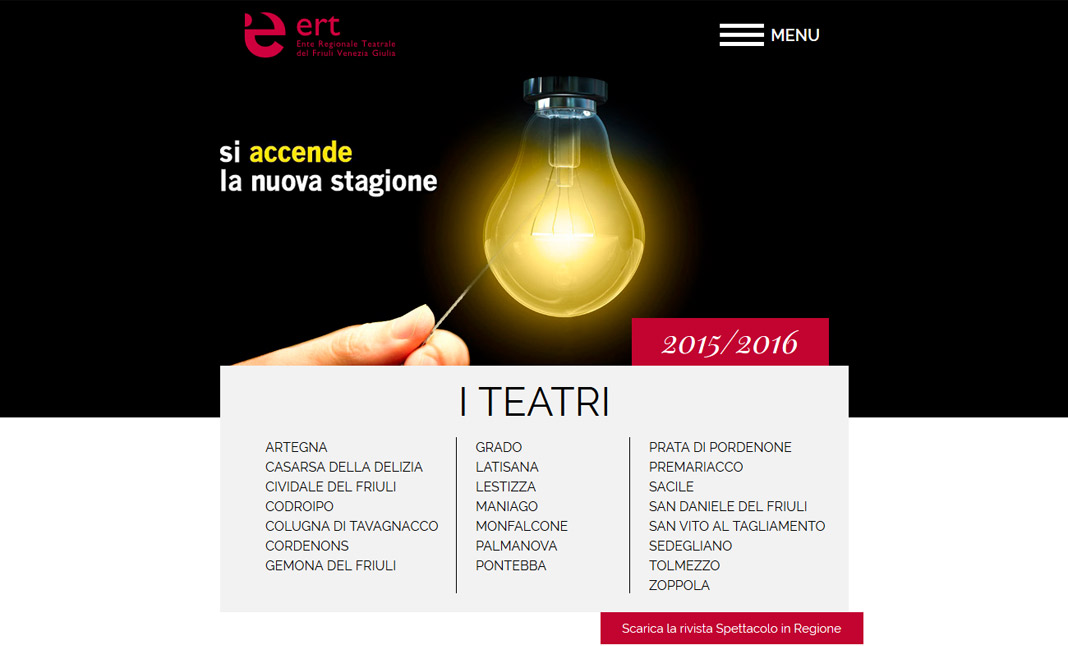 ERT FVG website