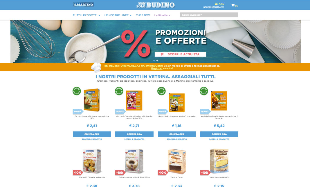 The S.Martino food e-commerce website