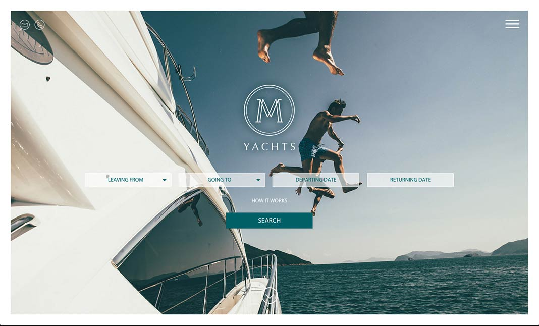 M Yachts website