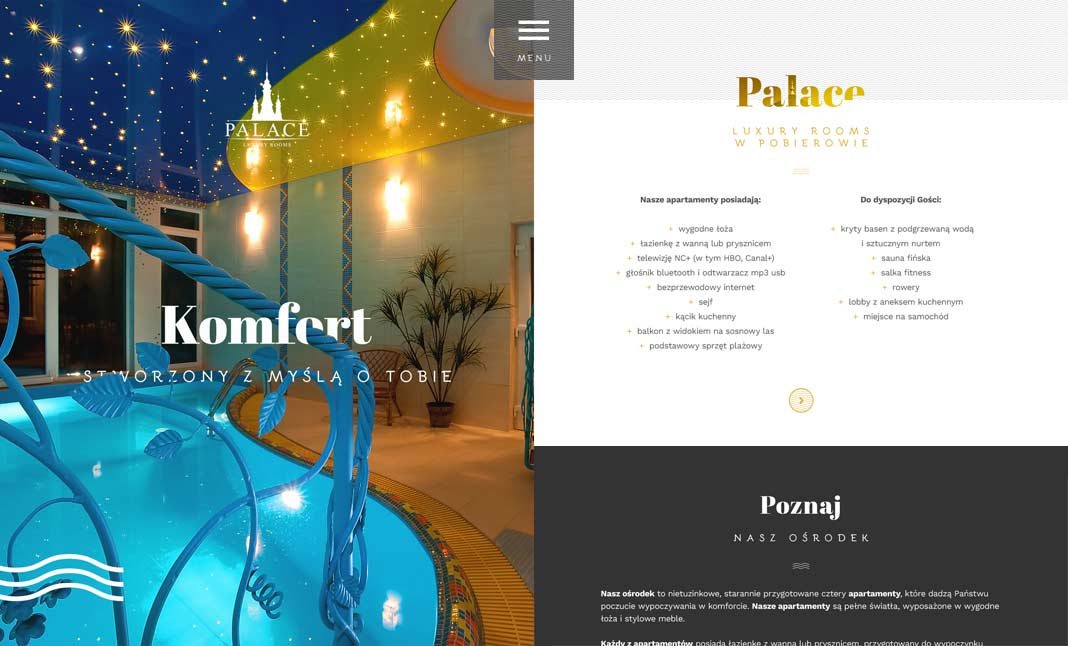 Palace - Luxury Rooms website