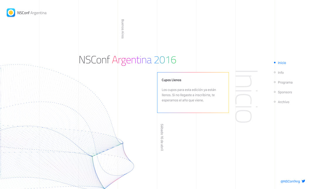 NsConf Argentina website