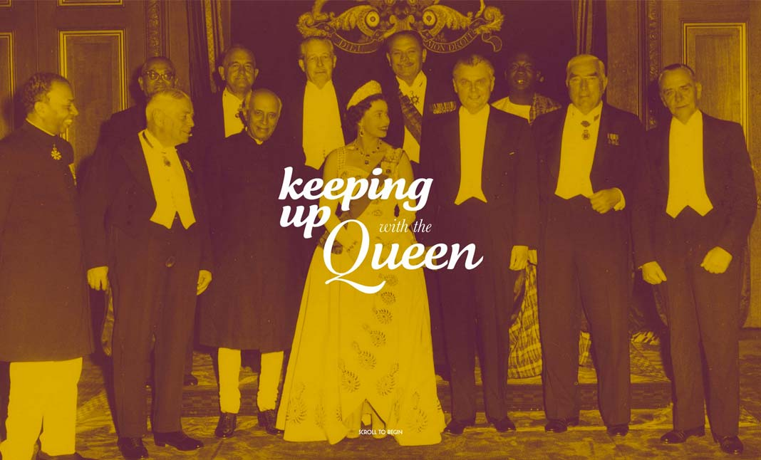Keeping Up With The Queen website