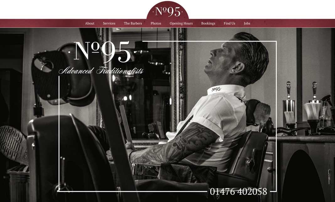 No.95 Barbershop designed by Malinky Media
