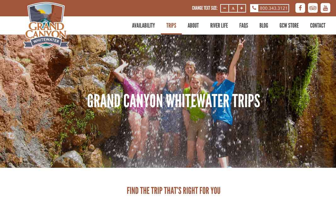 Grand Canyon Whitewater website