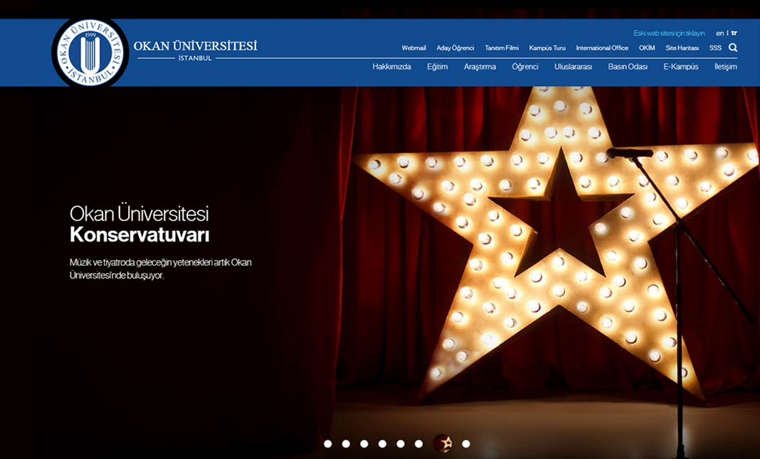 Okan University website
