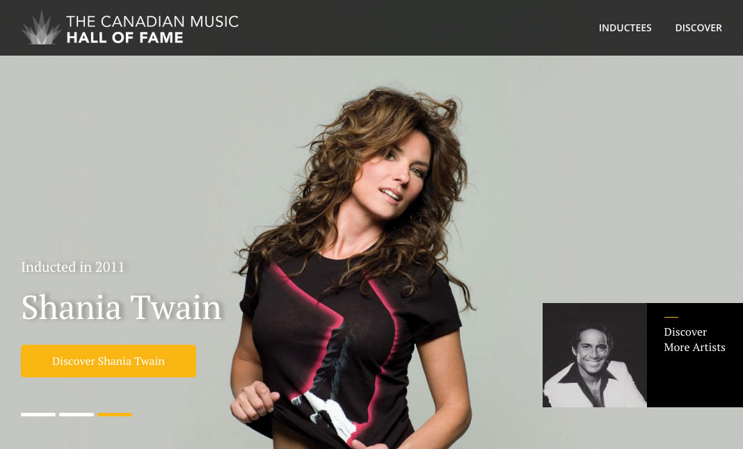 The Canadian Music Hall of Fame website