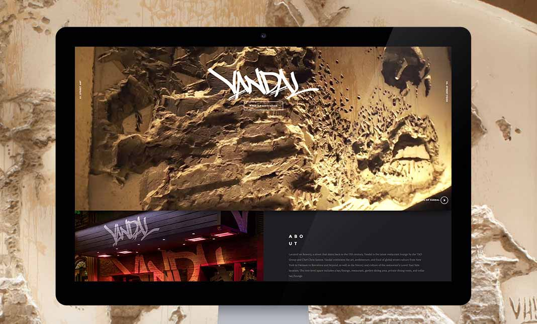 Vandal New York website