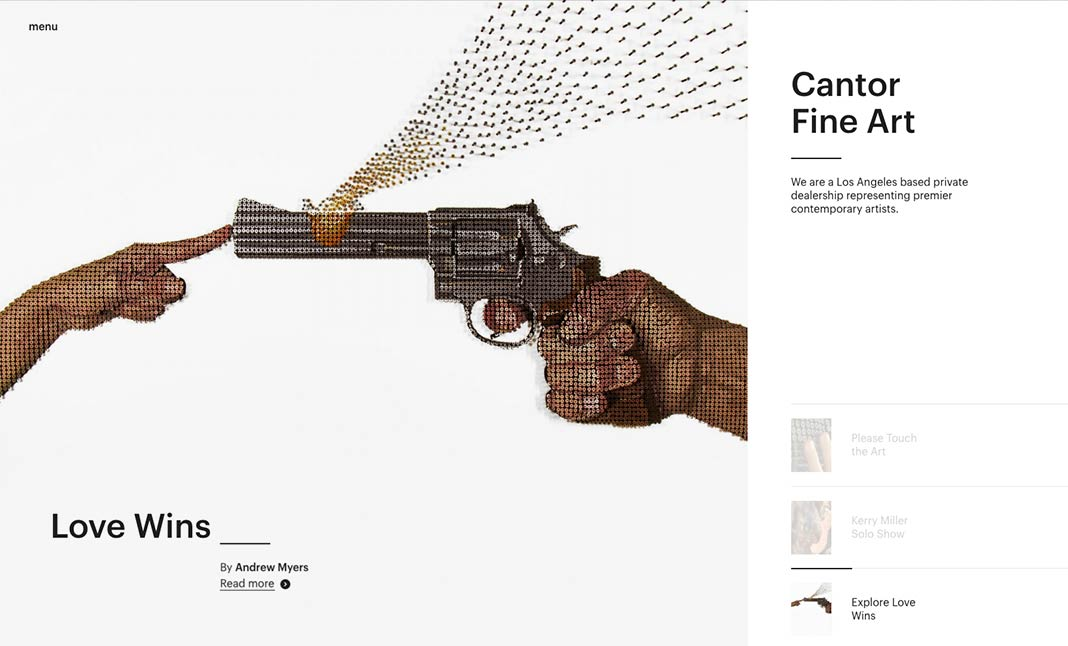 Cantor Fine Art website