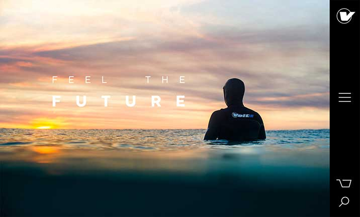 Volte Wetsuits website