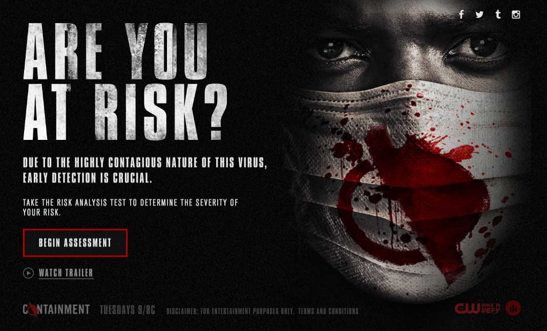 Are You At Risk?  website