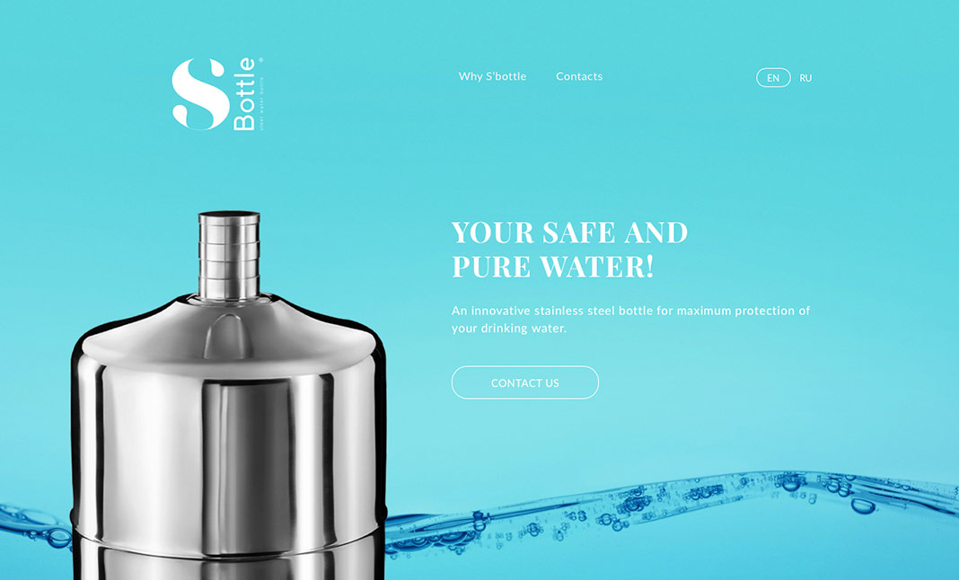 S'Bottle - An Innovative Bottle  website