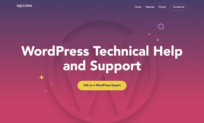 WP Crew - Wordpress Service website
