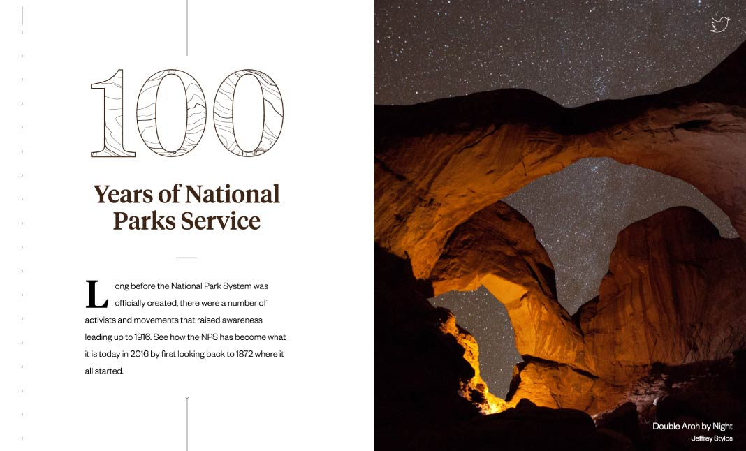 100 Years of National Parks website