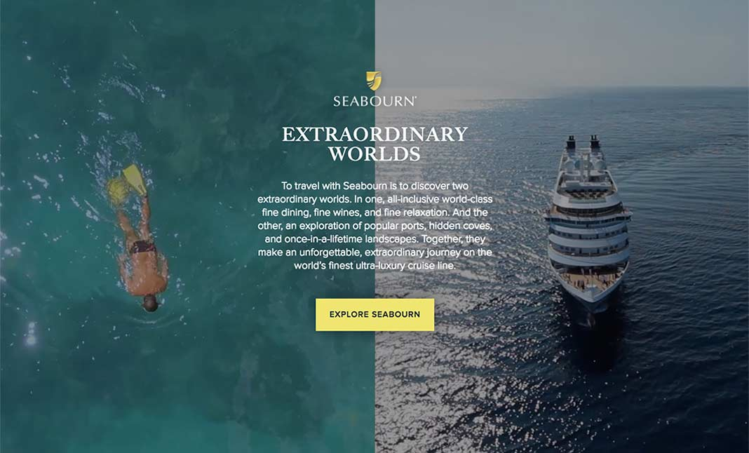 Extraordinary Worlds of Seabourn website