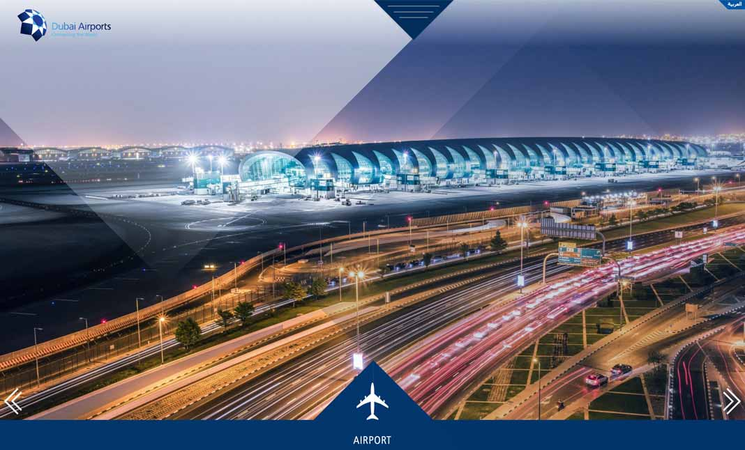 Dubai Airports Yearbook  website