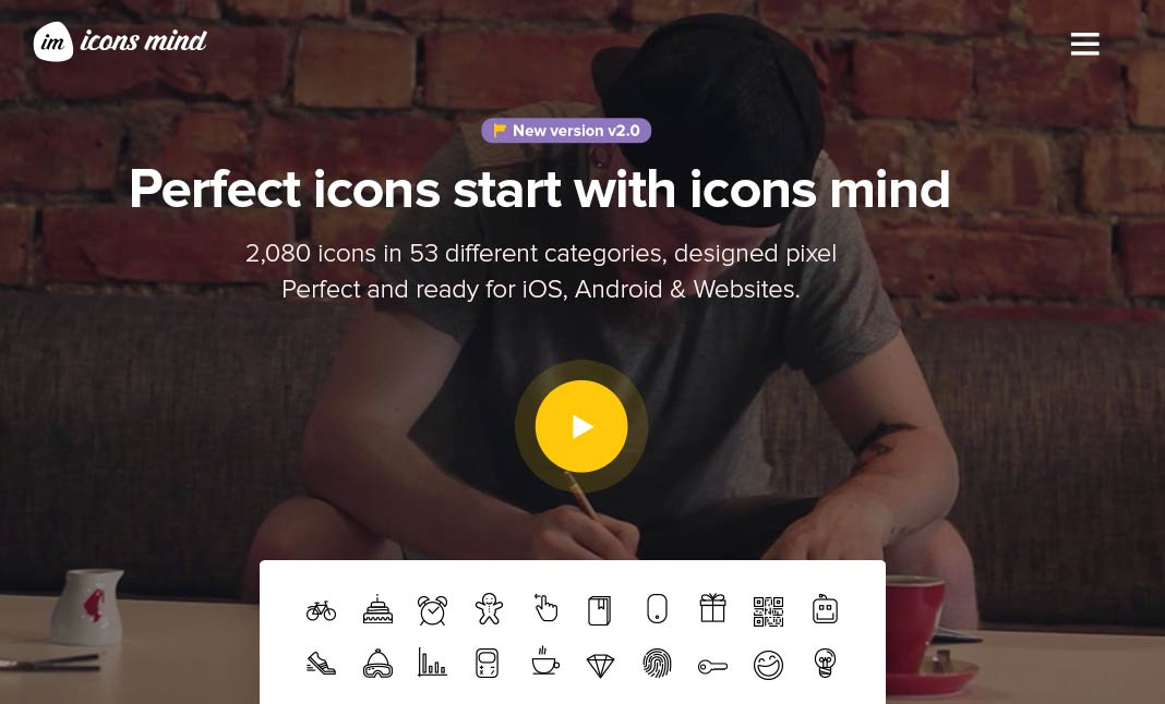 Icons Mind website