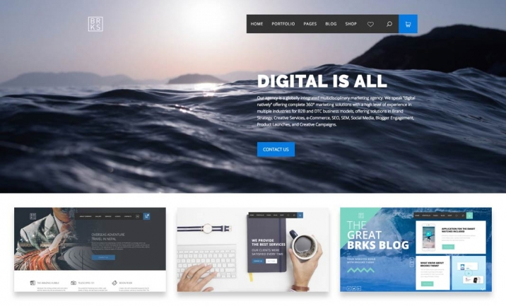 Brooks Creative WordPress Theme website