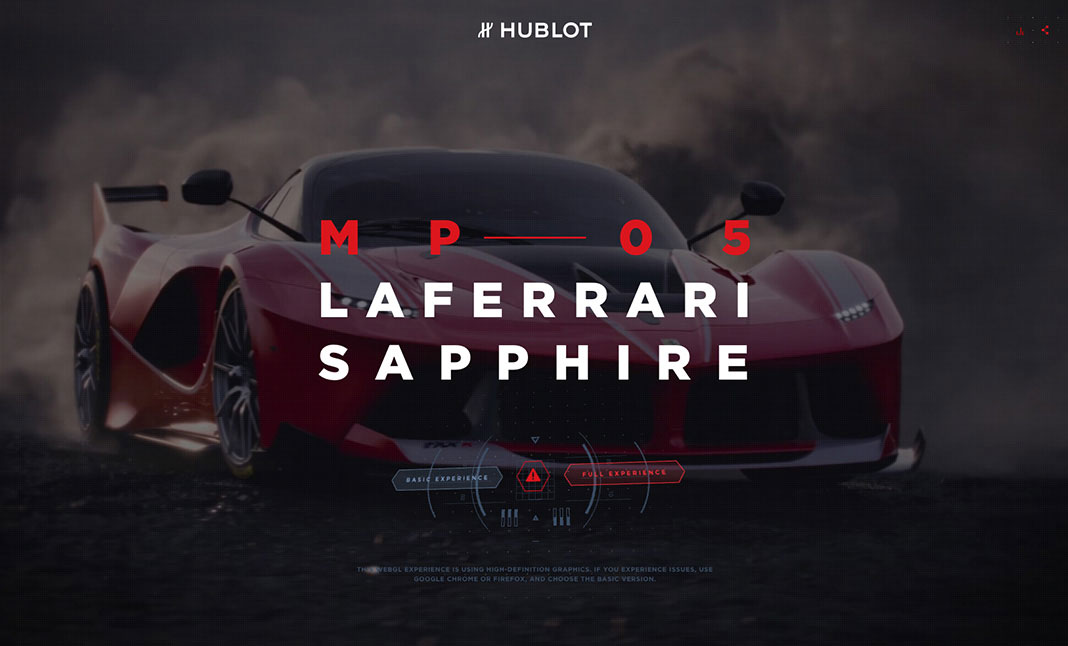 Hublot MP-05 LaFerrari Sapphire website