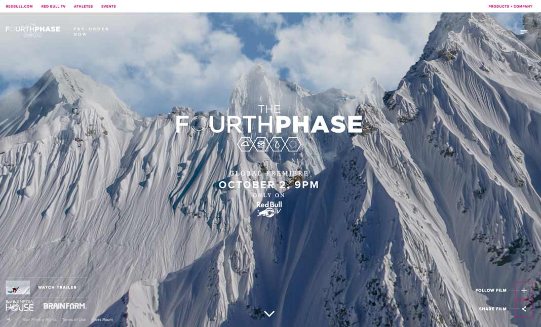 Travis Rice THE FOURTH PHASE  website