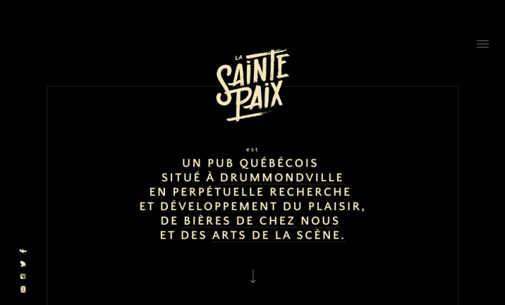 La Sainte Paix website
