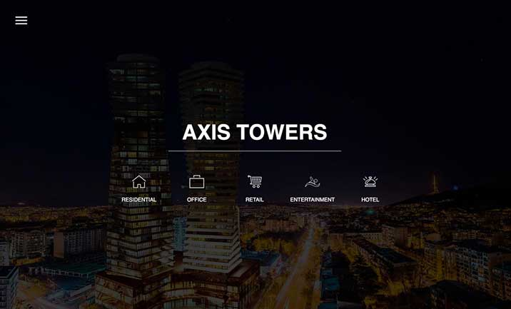Axis Towers website