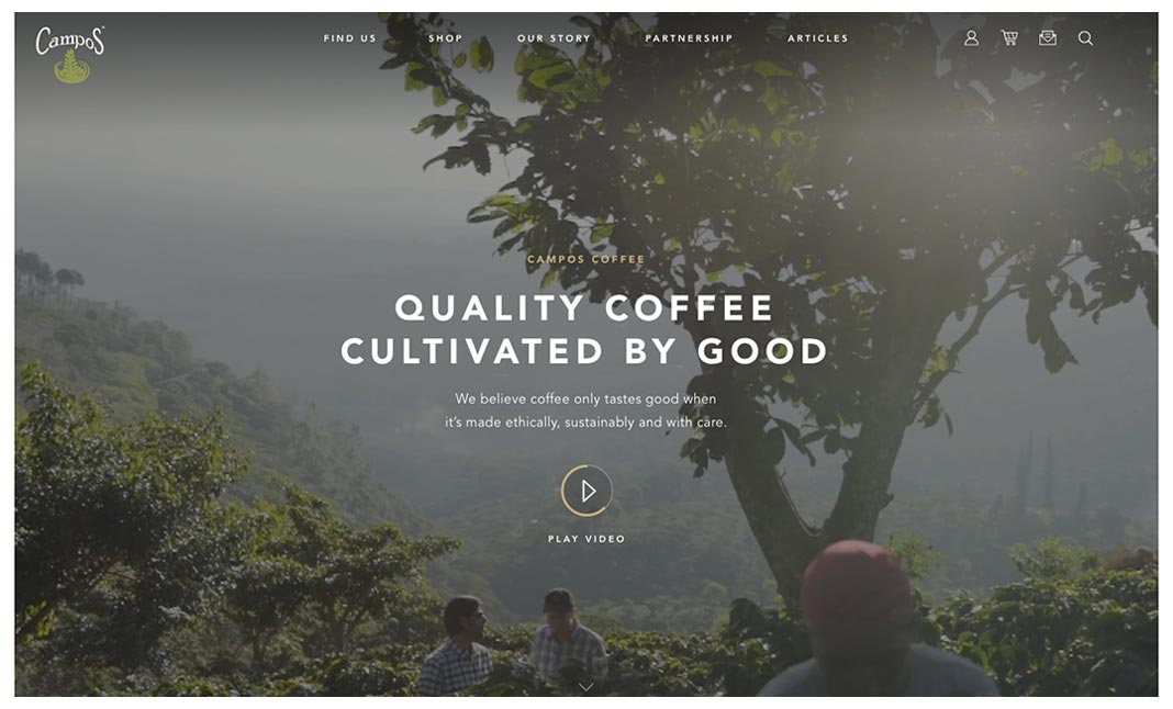 Campos Coffee website