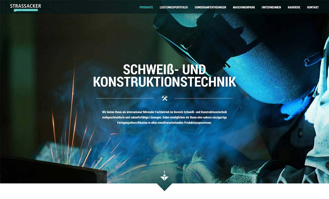 Strassacker Metal Tec website