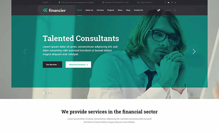 Financier - Finance WP Theme