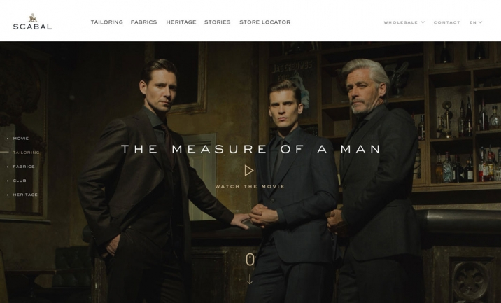 Scabal website