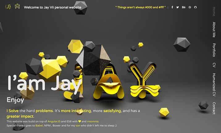 Jay Vii Portfolio website