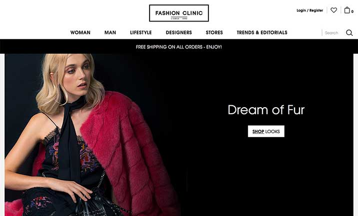 Fashion Clinic website