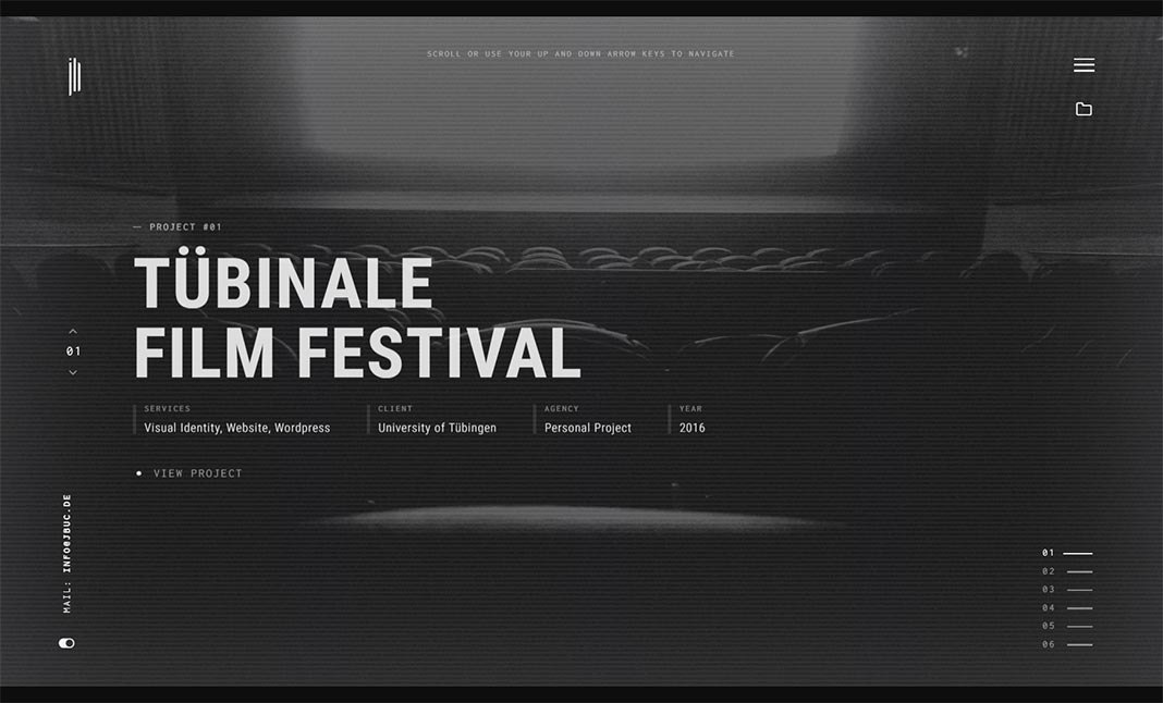 Julien Bucaille Portfolio website