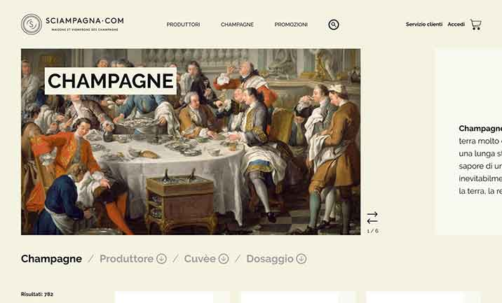 Sciampagna website