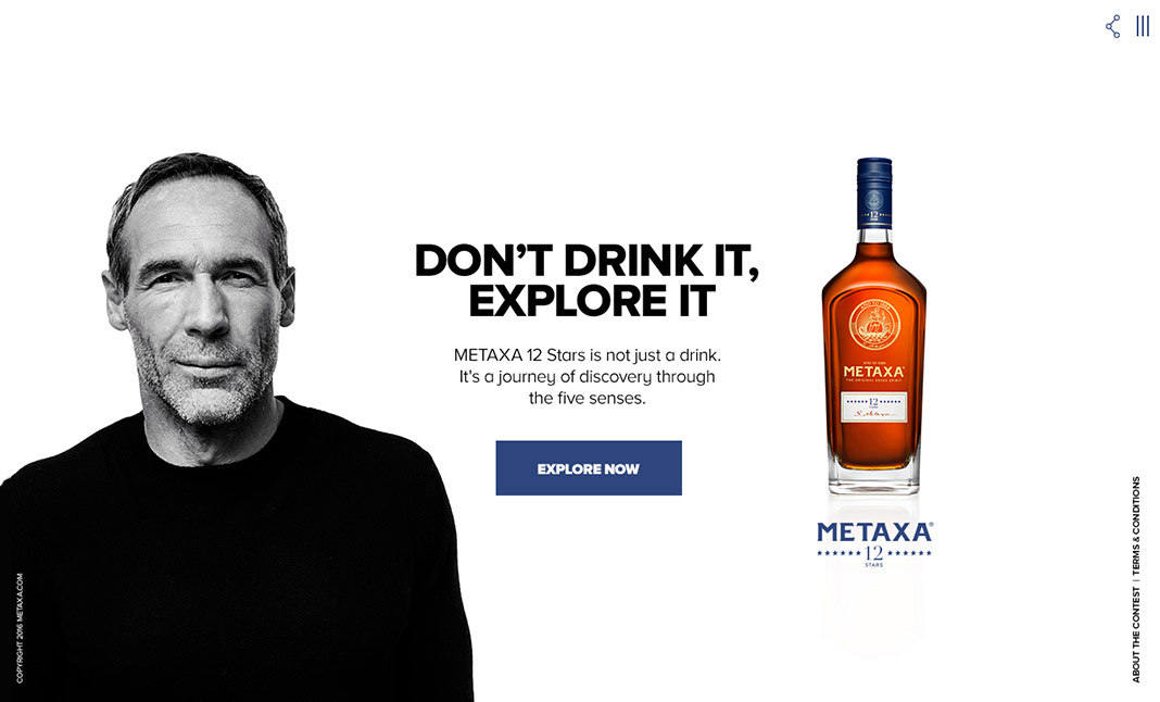 DON'T DRINK IT, EXPLORE IT website