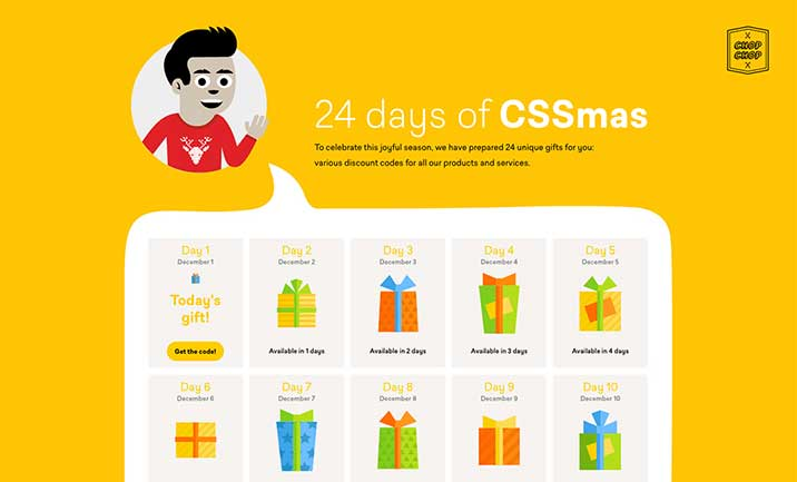 24 days of CSSmas! website