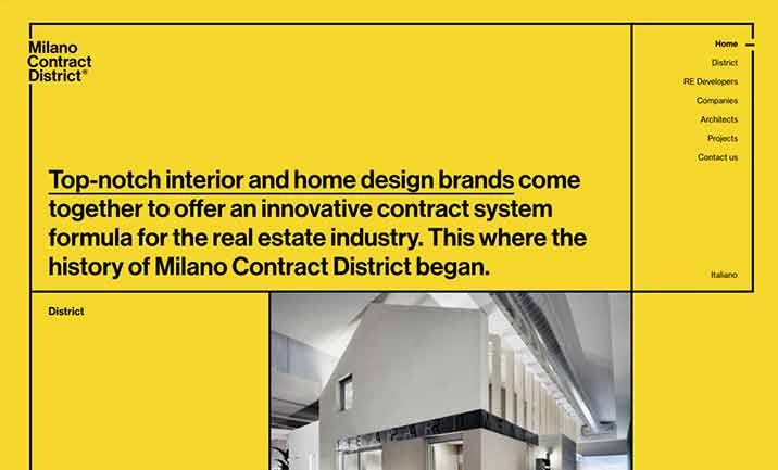 Milano Contract District website