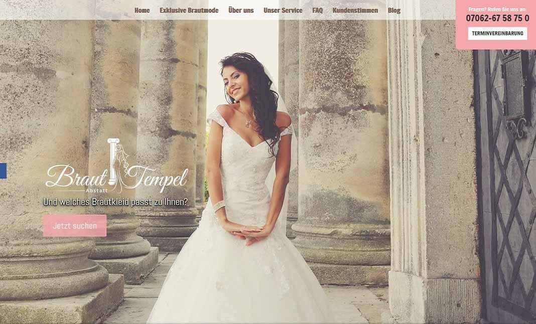 Braut Tempel : Bridal Fashion Store designed by Samu Internet