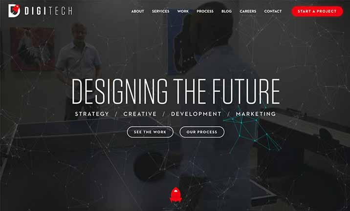 digiTech Web Design website