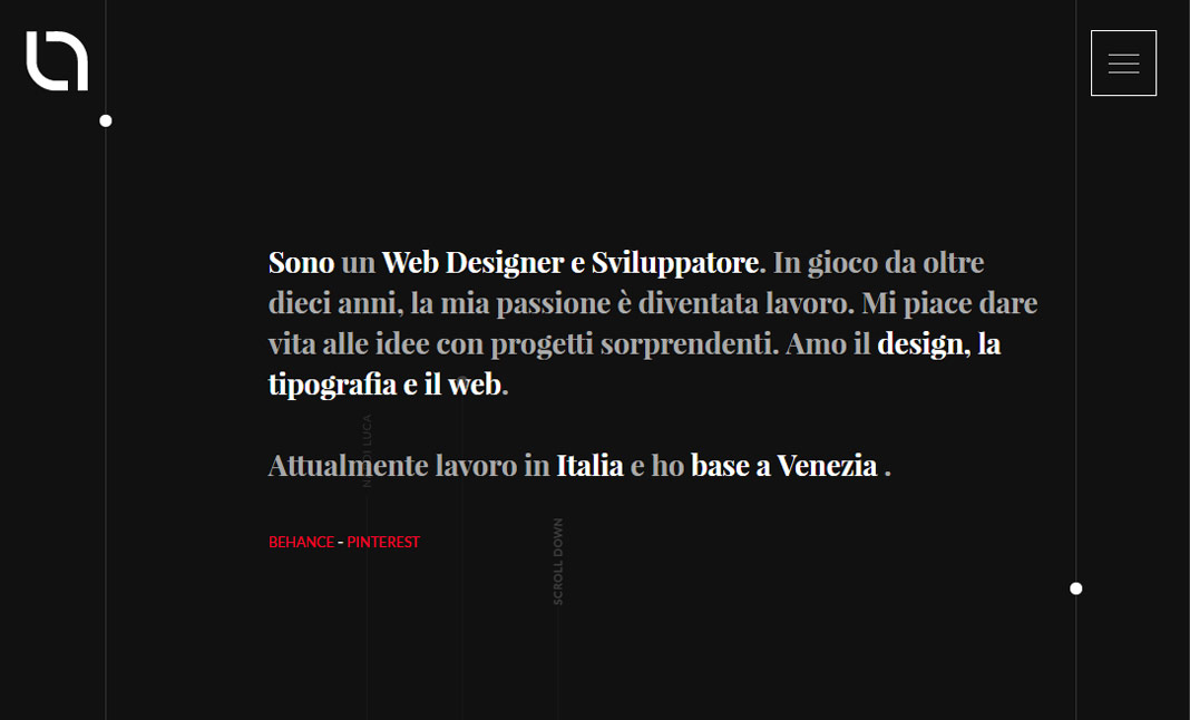 About Luca website