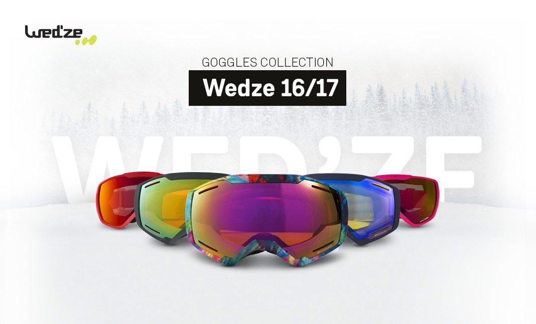 Wed'ze - Goggles Collection website