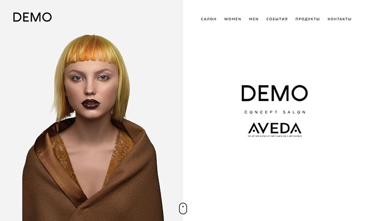 DEMO AVEDA website