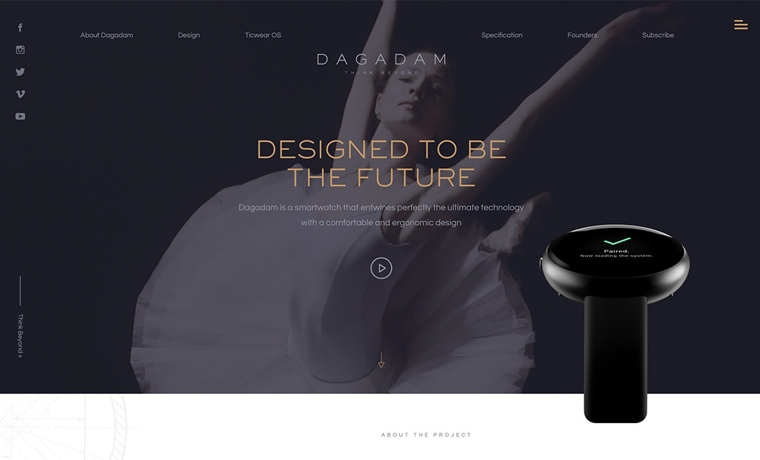 Dagadam Smartwatch Website website