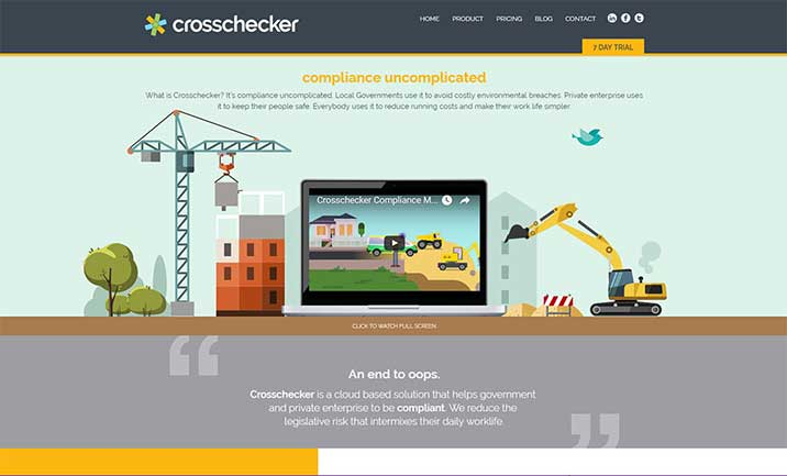 Crosschecker Compliance Software website