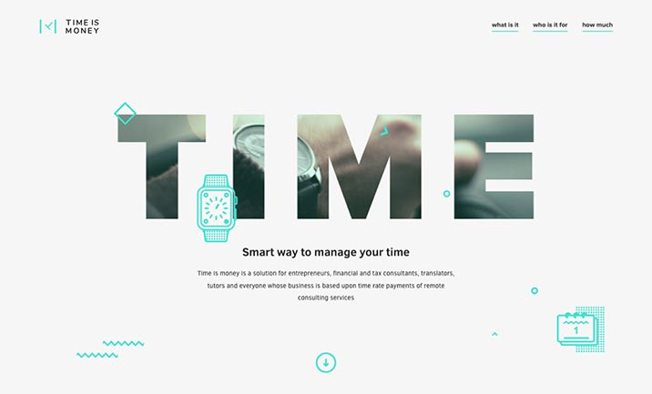 Time Is Money website