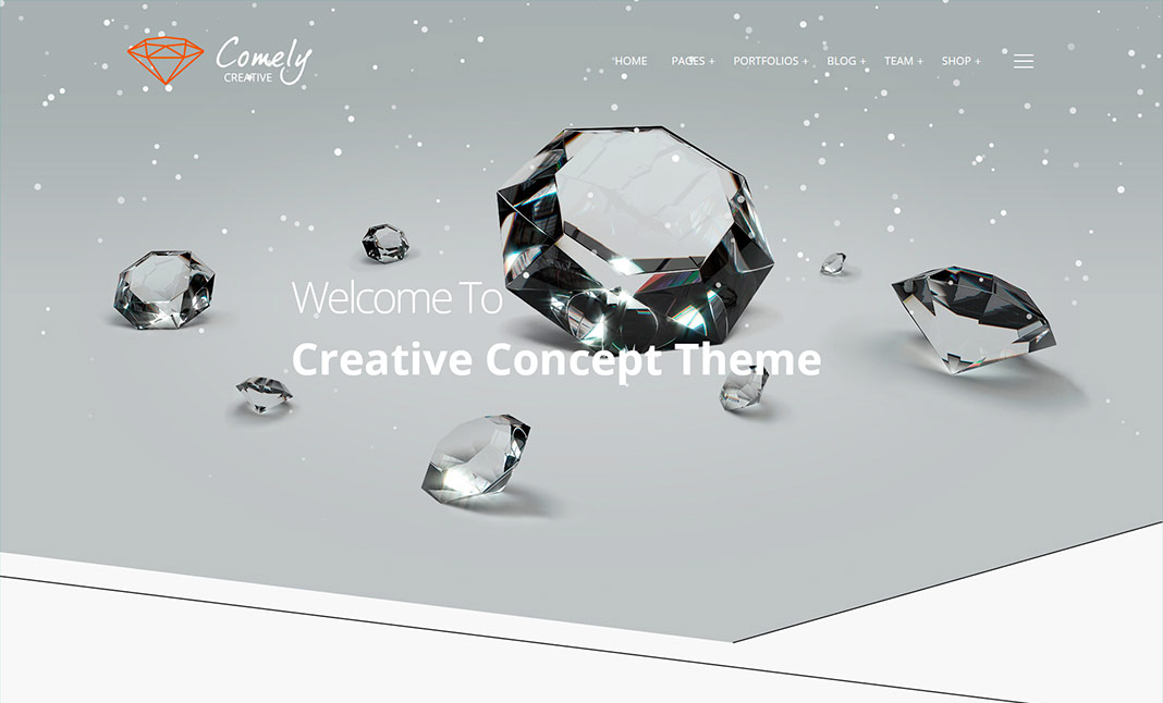 Comely WordPress Theme website