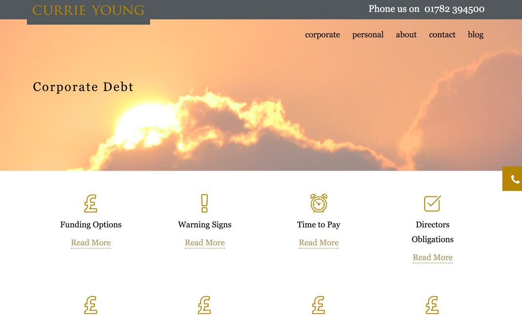 Currie Young website